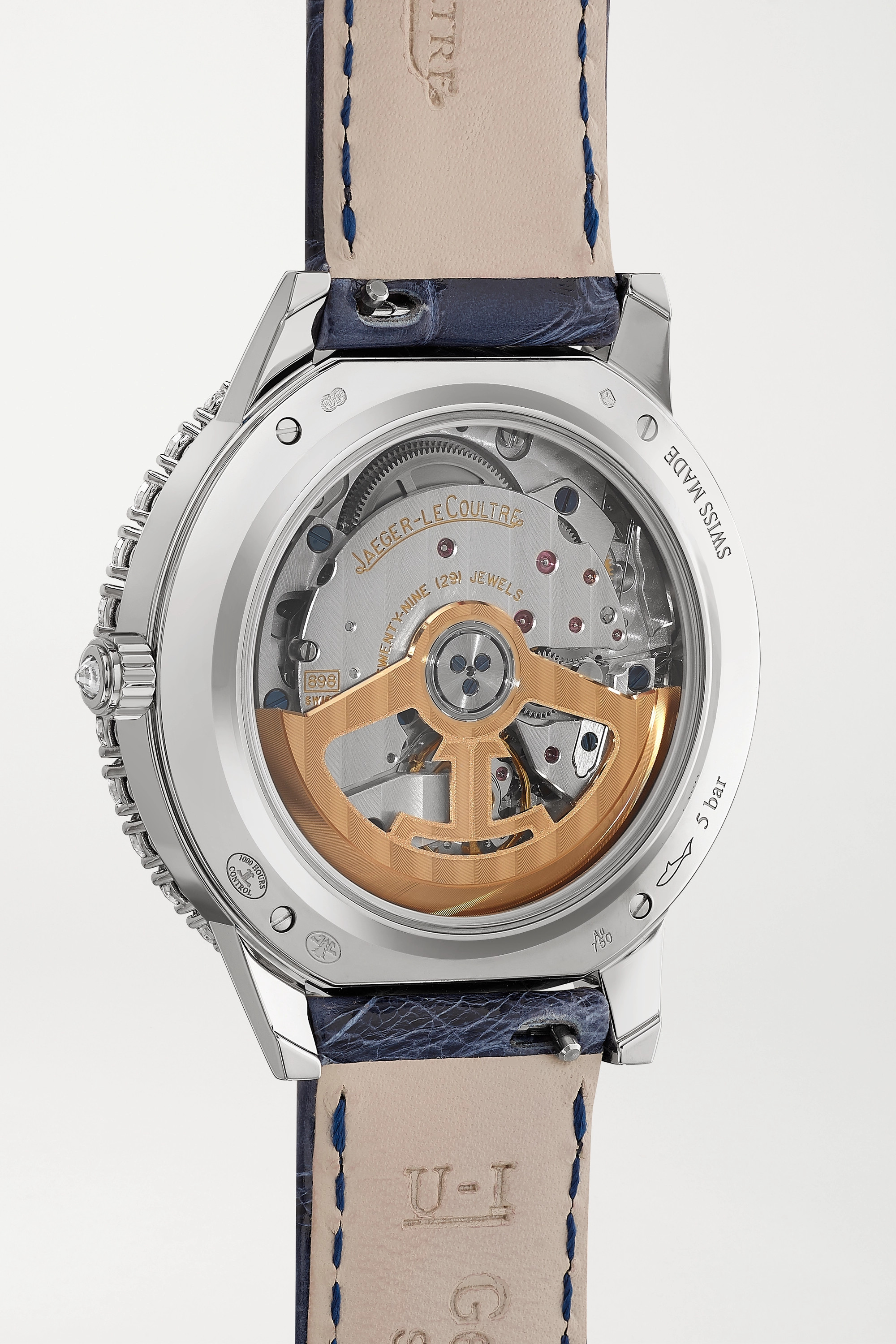 Jaeger-LeCoultre Rendez-Vous Night & Day Automatic 36mm 18-karat white gold, mother-of-pearl, diamond and alligator watch
