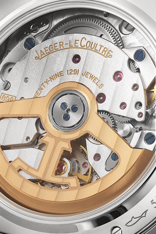 Jaeger-LeCoultre Rendez-Vous Night & Day 36 毫米 18K 白金珍珠母钻石自动上链腕表(短吻鳄鱼皮表带)