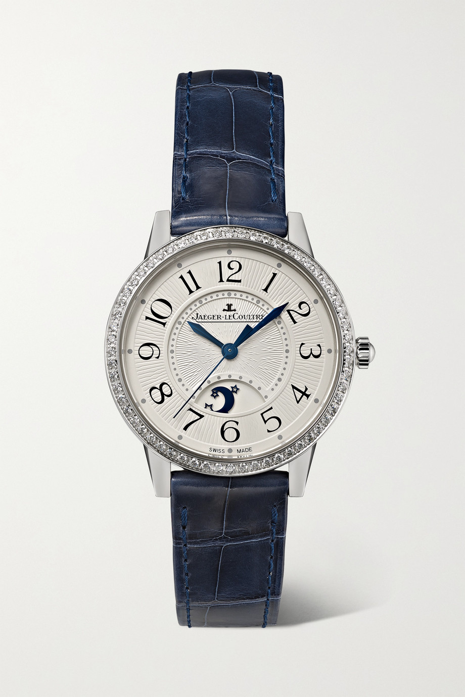 Jaeger-LeCoultre Rendez-Vous Moon Automatic 29 毫米钻石精钢小号腕表(短吻鳄鱼皮表带)