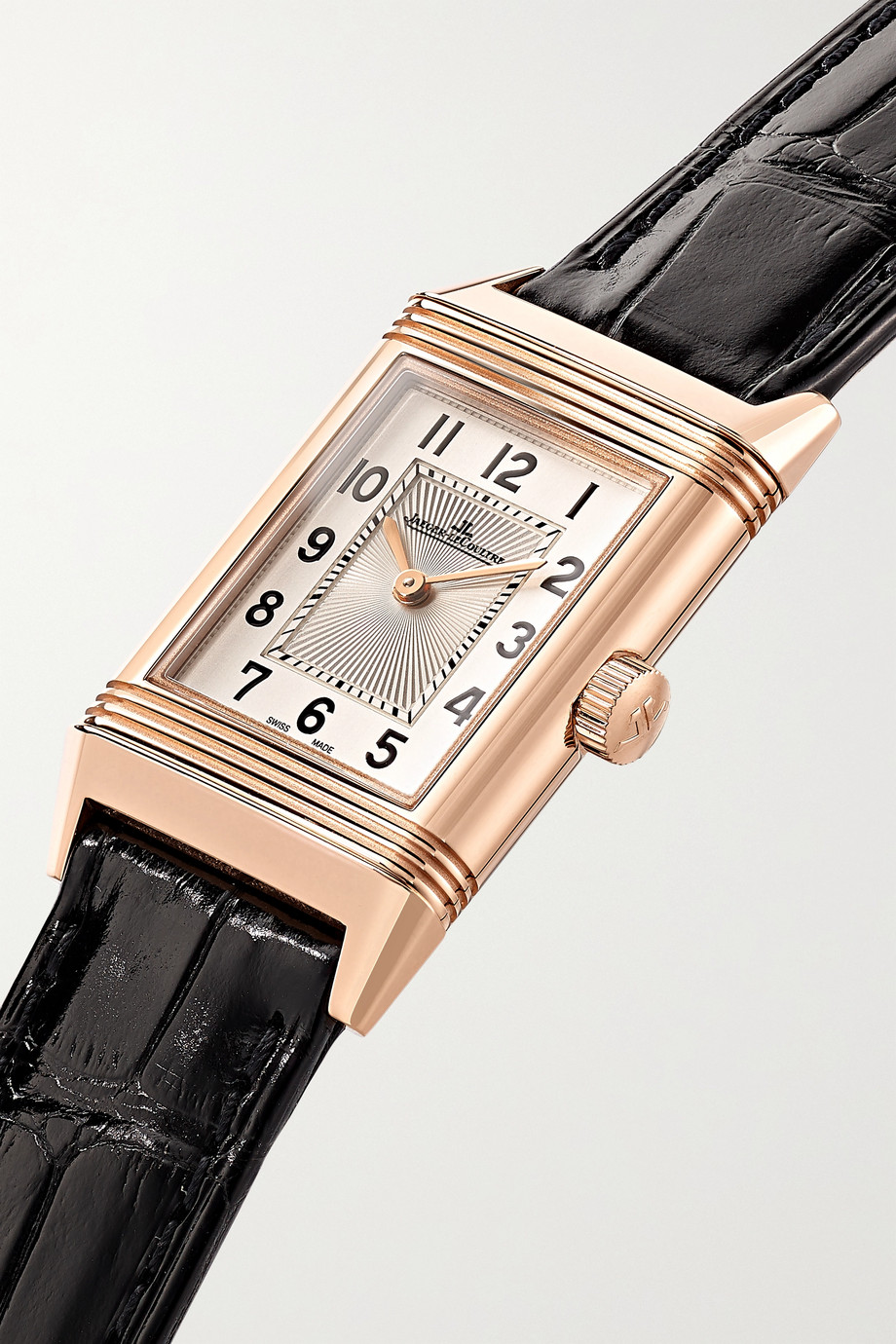 Jaeger-LeCoultre Reverso Classic 21 毫米玫瑰金小号腕表(短吻鳄鱼皮表带)