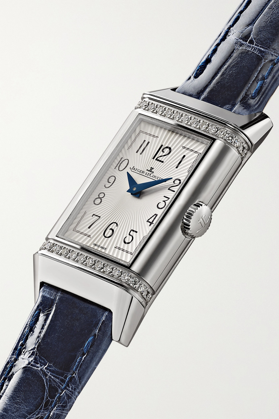 Jaeger-LeCoultre Reverso One Duetto 20mm stainless steel, diamond and alligator watch