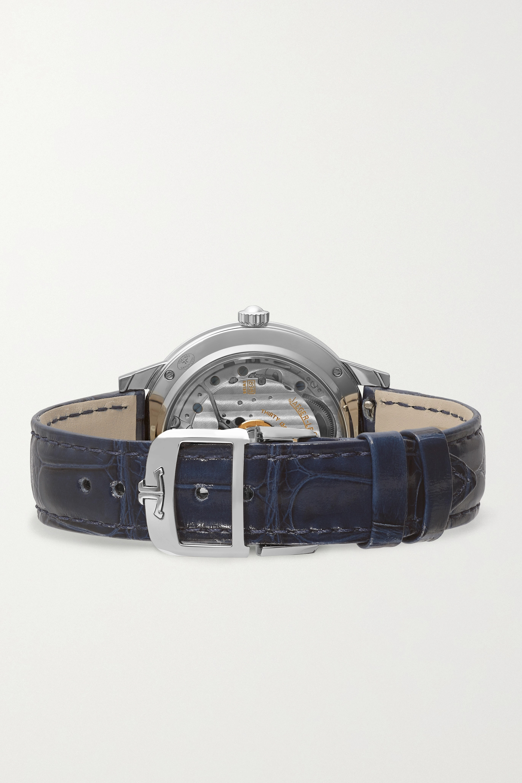 Jaeger-LeCoultre Rendez-Vous Night & Day 34 毫米钻石精钢中型腕表(短吻鳄鱼皮表带)