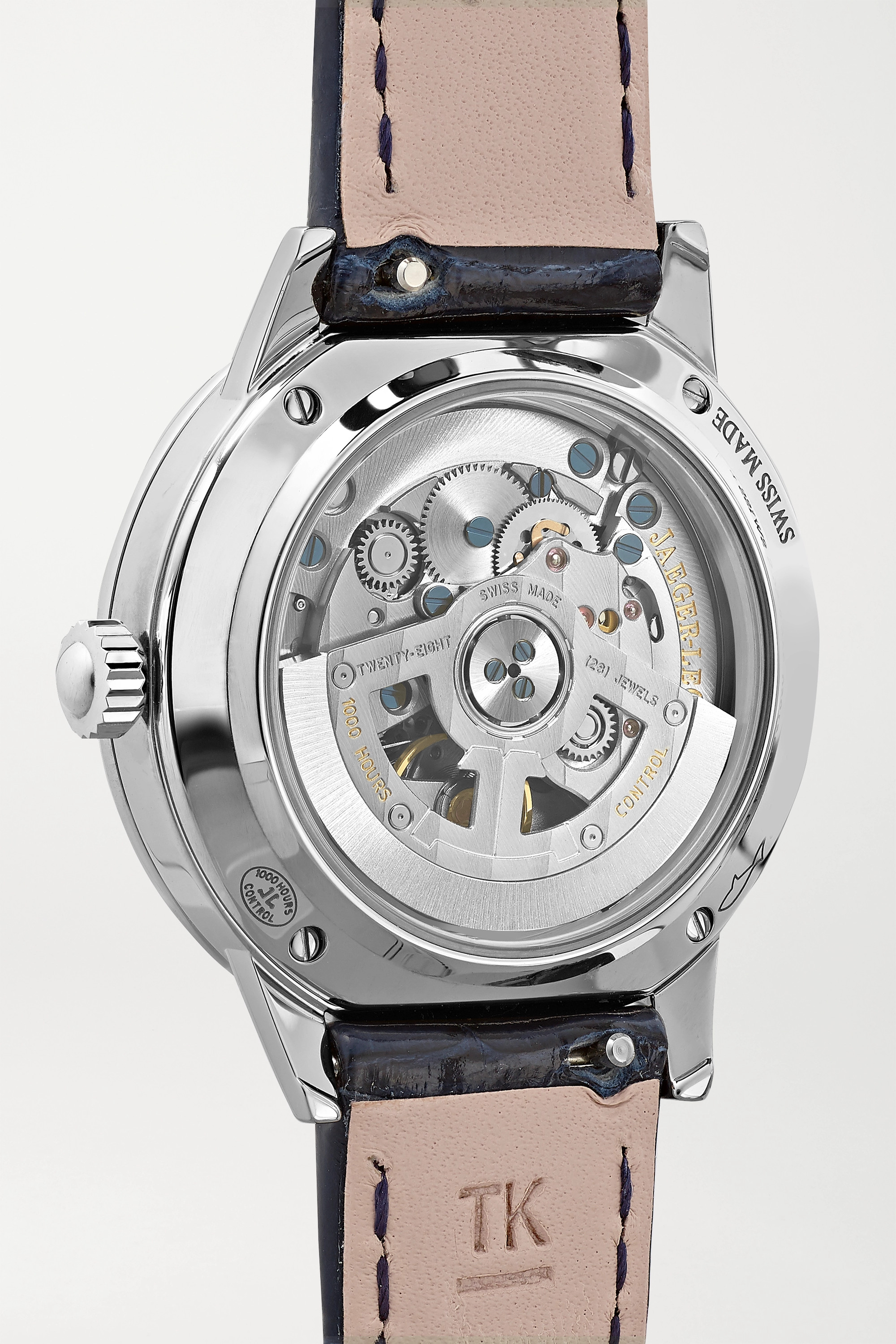Jaeger-LeCoultre Rendez-Vous Night & Day 29mm small stainless steel, alligator and diamond watch