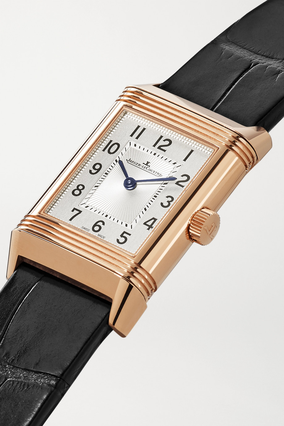 Jaeger-LeCoultre Reverso Classic Duetto hand-wound 21mm small rose gold, alligator and diamond watch