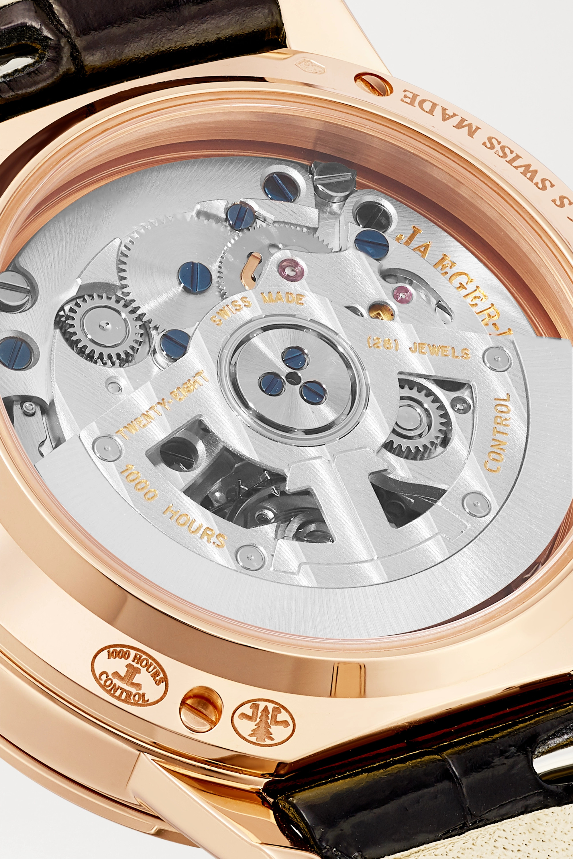 Jaeger-LeCoultre Rendez-Vous Night & Day Automatic Moon-Phase small 29mm rose gold, alligator and diamond watch