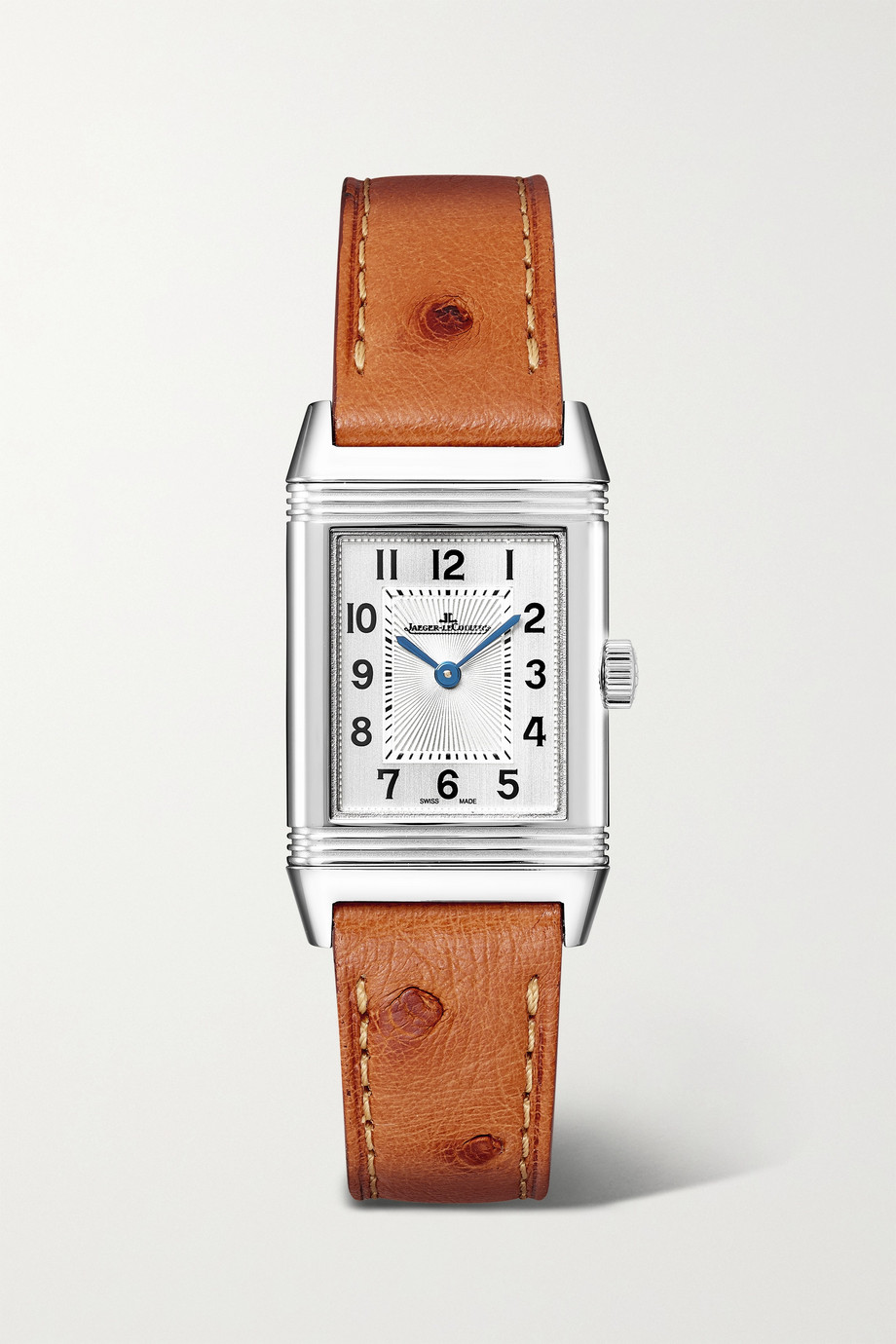 Jaeger-LeCoultre Reverso Classic Hand-Wound 21mm small stainless steel and ostrich watch