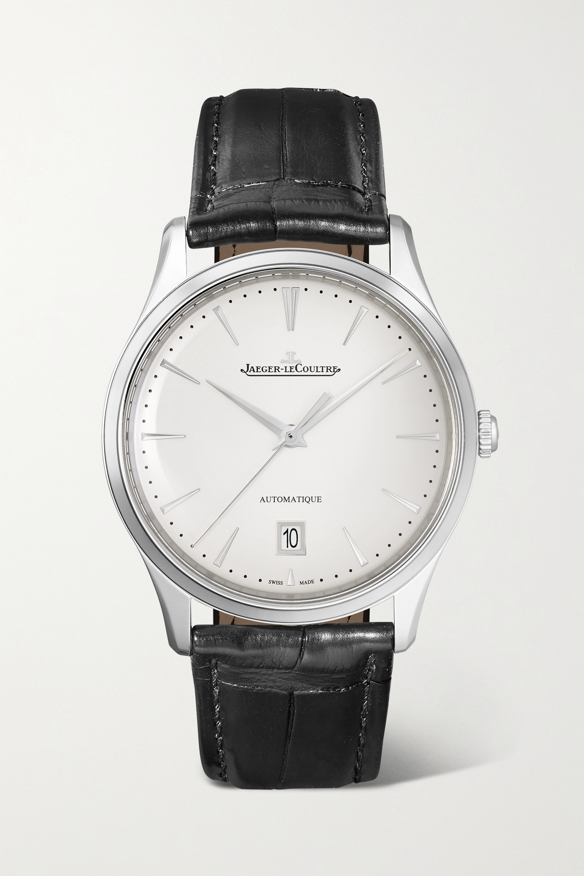 Jaeger-LeCoultre Master Ultra Thin Date Automatic 39mm stainless steel and alligator watch