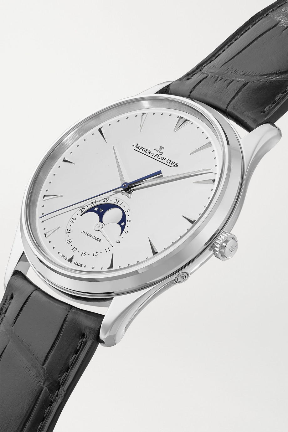 Jaeger-LeCoultre Master Ultra Thin Moon Automatic 39mm stainless steel and alligator watch