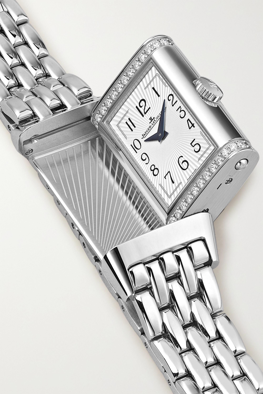 Jaeger-LeCoultre Reverso One Duetto 20 mm Uhr aus Edelstahl mit Diamanten