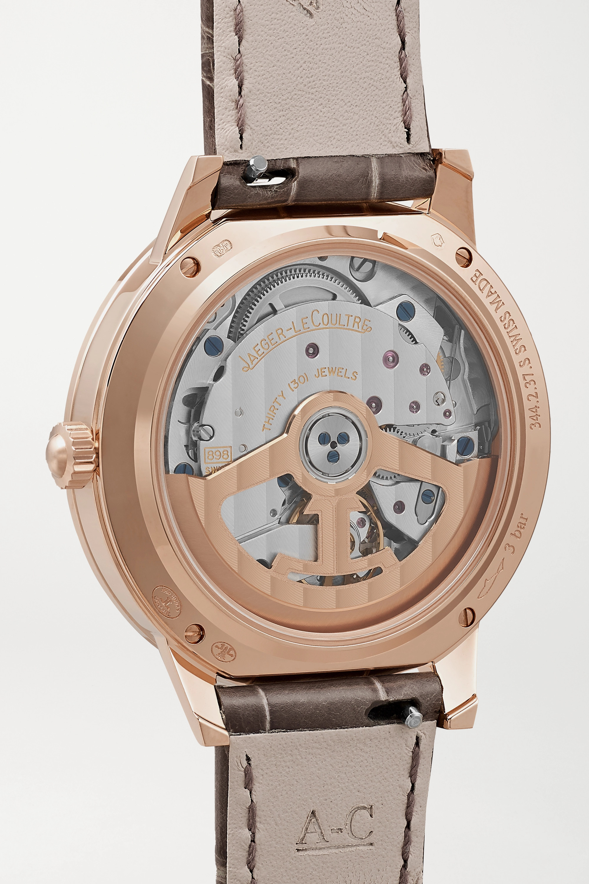 Jaeger-LeCoultre Rendez-Vous Night & Day automatic 34mm medium pink gold, alligator and diamond watch