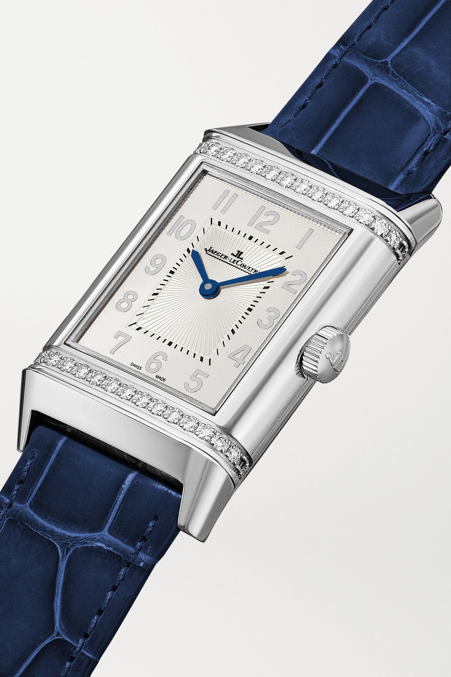 Jaeger-LeCoultre Reverso Classic Duetto Automatic 24mm medium stainless steel, alligator and diamond watch