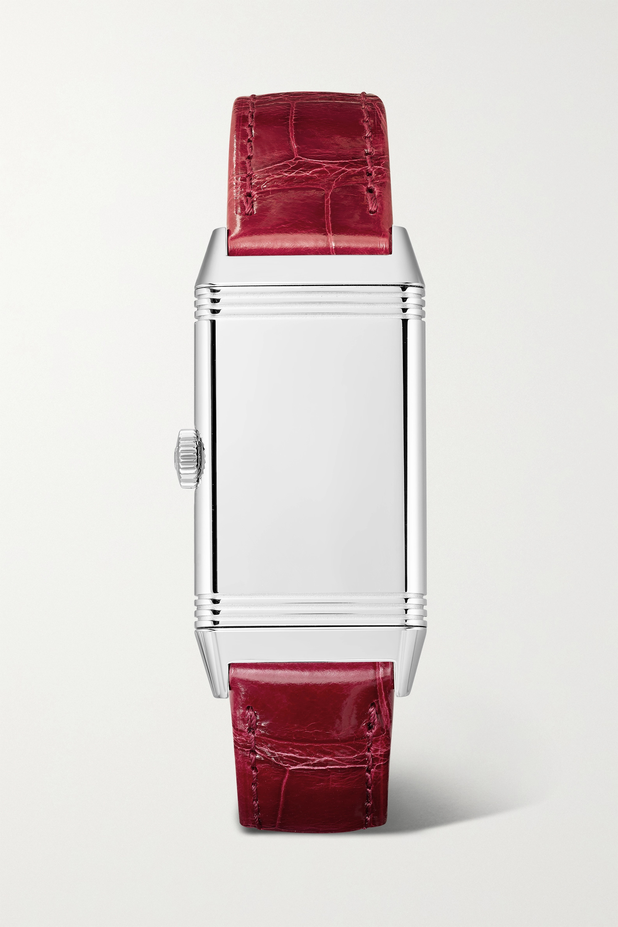 Jaeger-LeCoultre Reverso One 20mm stainless steel, diamond and alligator watch