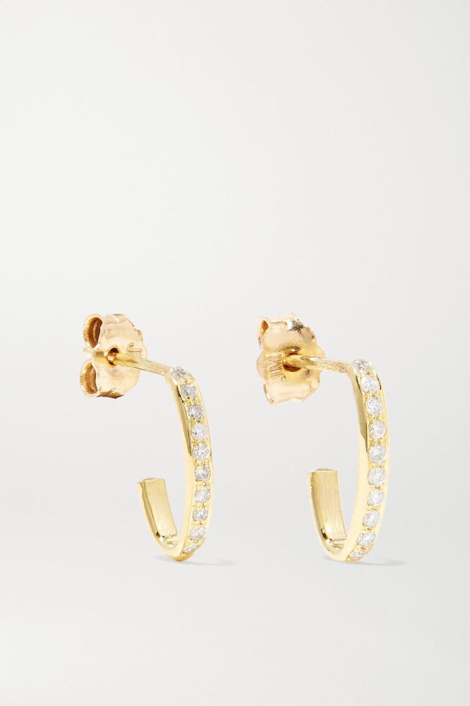 Jennifer Meyer Edith Creolen aus 18 Karat Gold mit Diamanten
