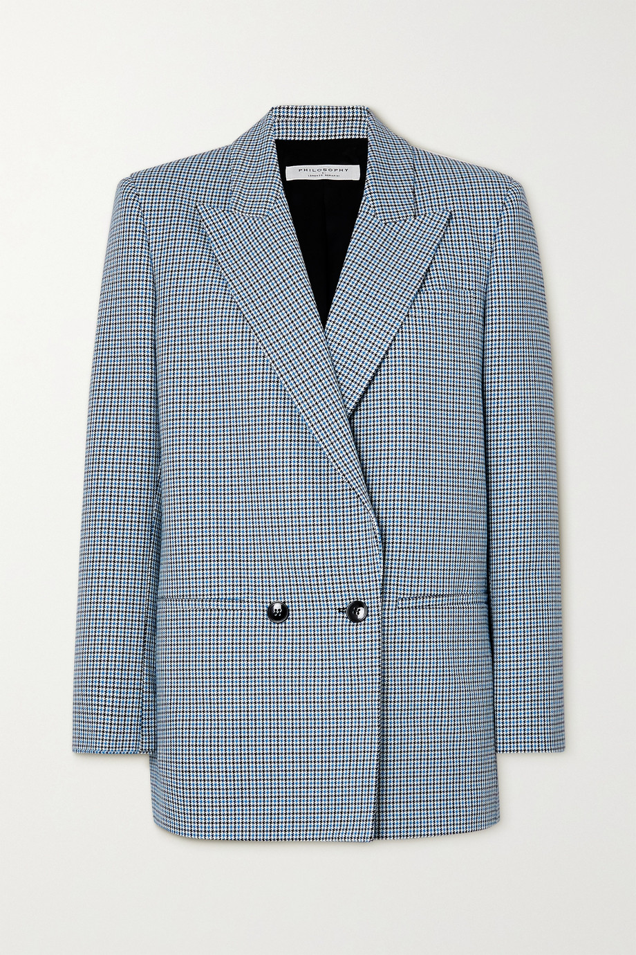 Philosophy di Lorenzo Serafini Double-breasted houndstooth cotton blazer