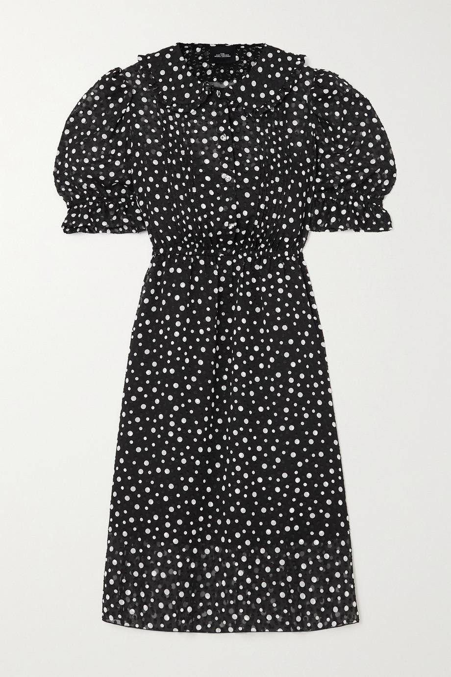 THE Marc Jacobs The Kat crystal-embellished polka-dot fil coupé chiffon dress