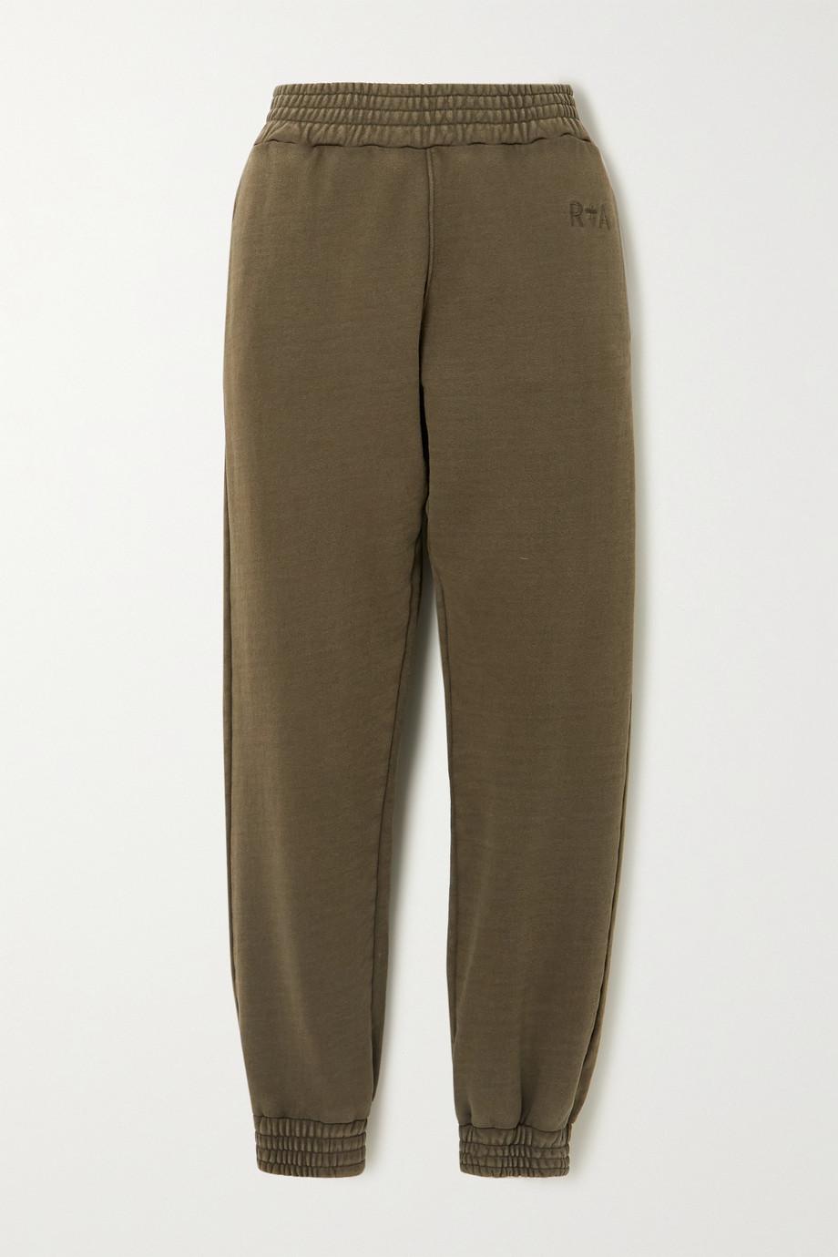 RtA Sydney cotton-jersey track pants