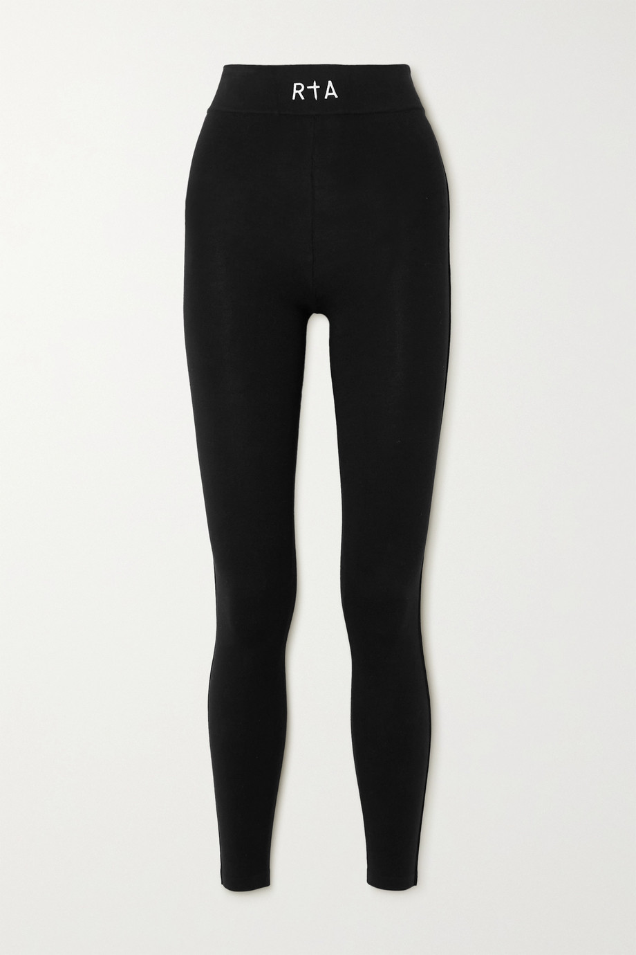 RtA Sibille embroidered stretch-cotton jersey leggings