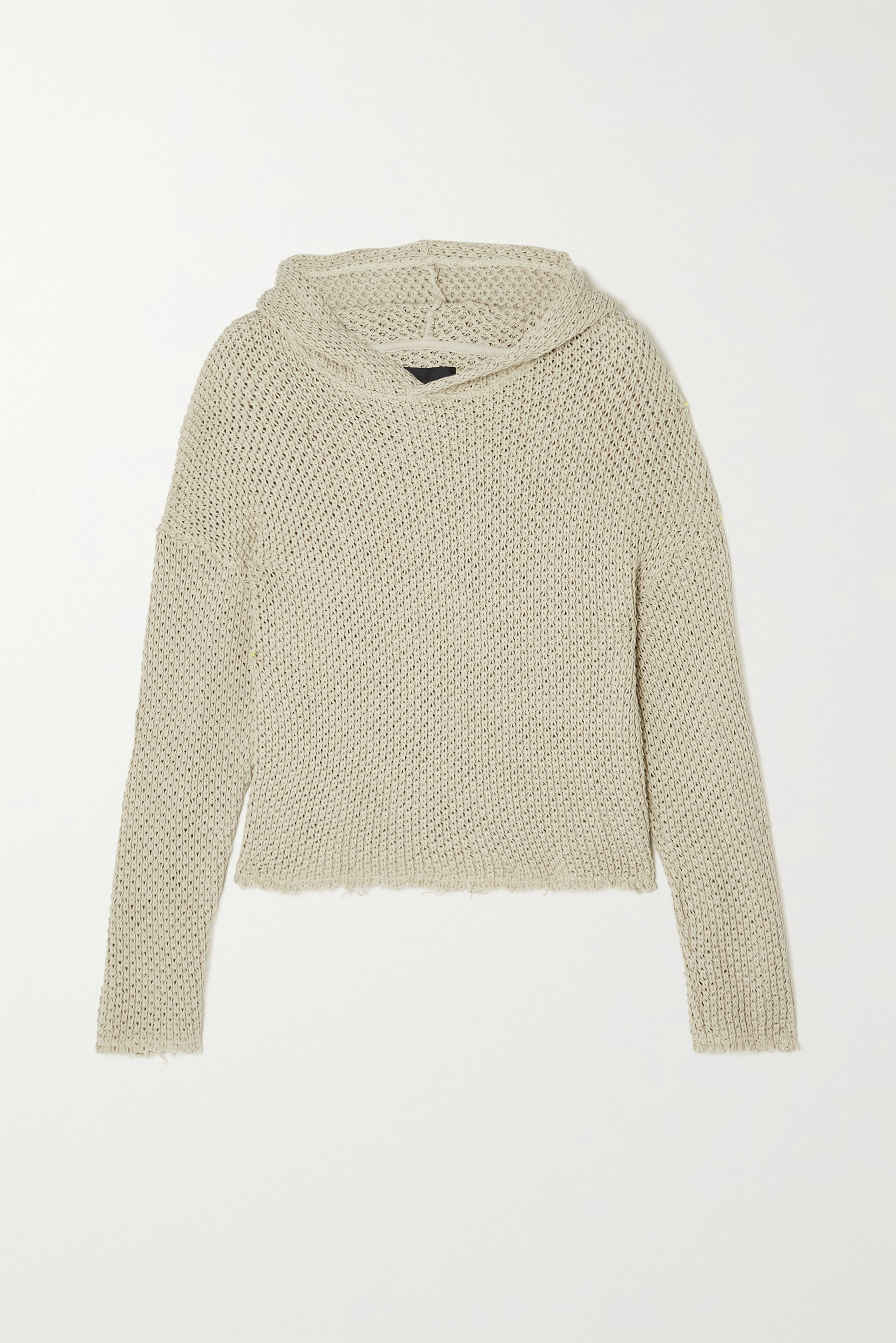 RtA Marvin open-knit cotton hoodie