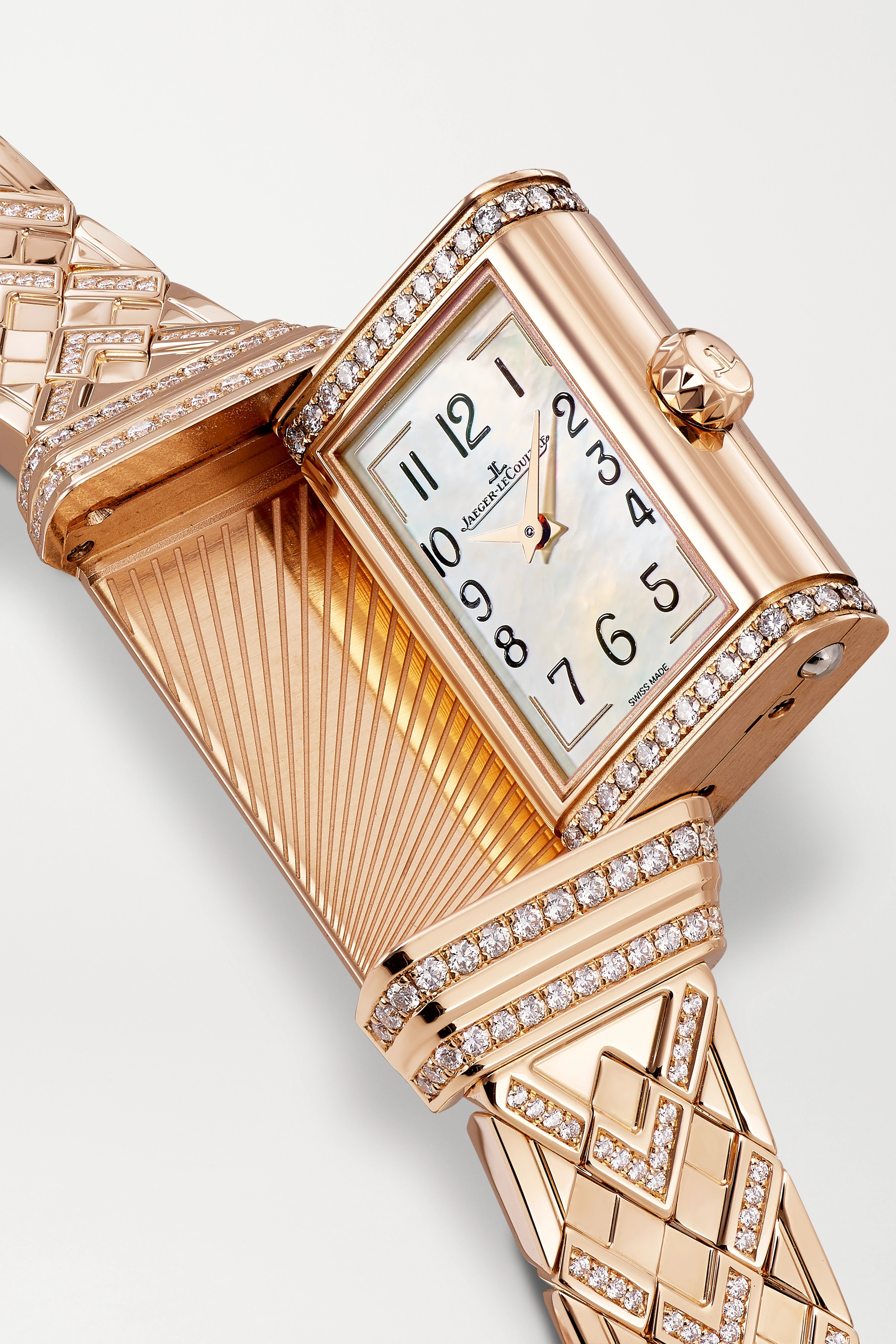 Jaeger-LeCoultre Reverso One Duetto Hand-Wound 18mm rose gold diamond watch
