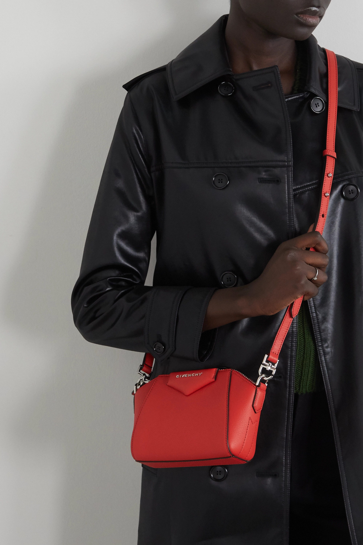 Givenchy Antigona nano Schultertasche aus strukturiertem Leder