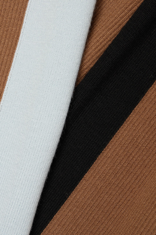 STAUD Ski color-block ribbed-knit wide-leg pants
