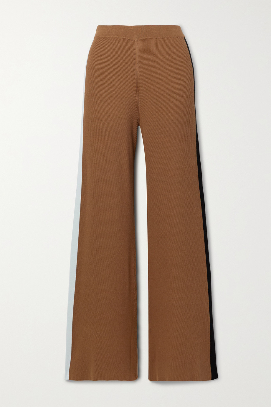 STAUD Ski color-block ribbed-knit wide-leg pants