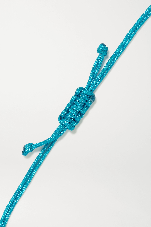 Yvonne Léon 9-karat gold, cord and diamond bracelet