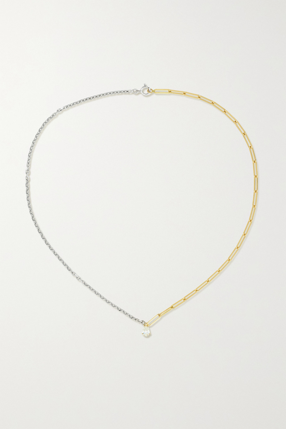 Yvonne Léon 18-karat yellow and white gold diamond necklace