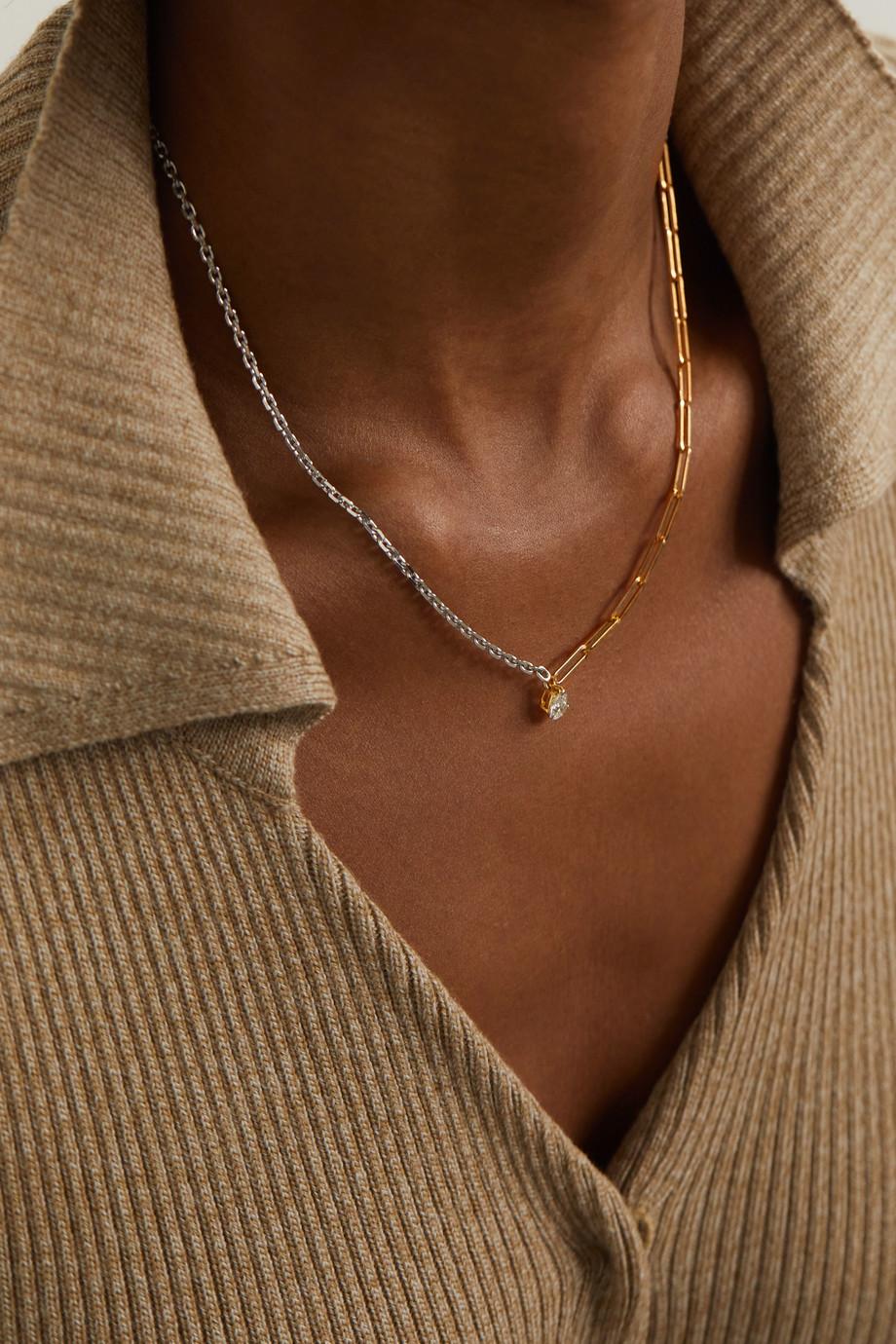 Yvonne Léon 18-karat yellow and white gold diamond necklace