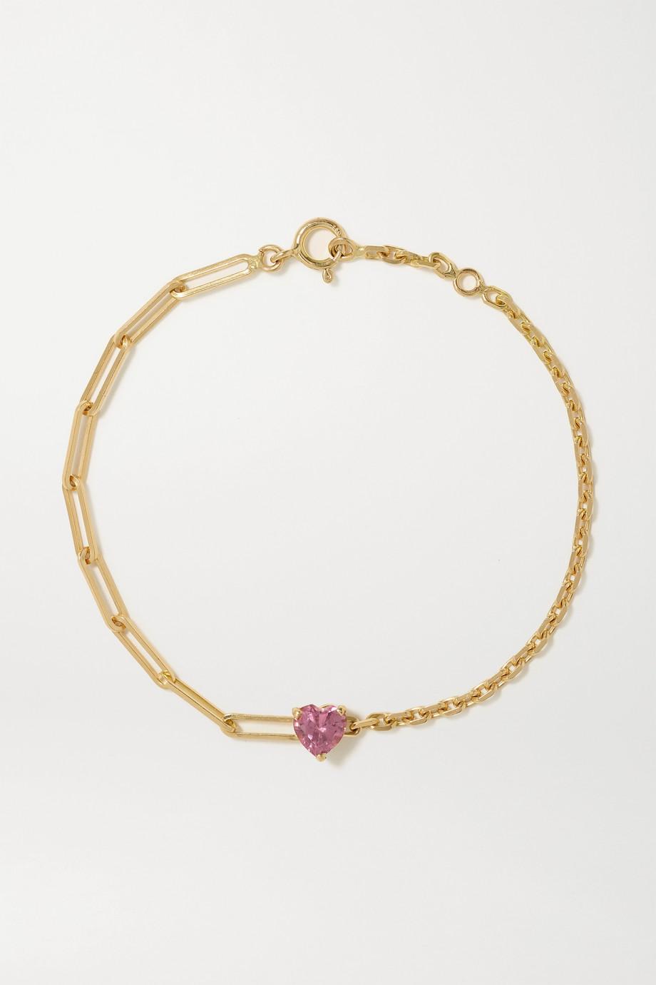 Yvonne Léon Armband aus 18 Karat Gold mit Turmalin