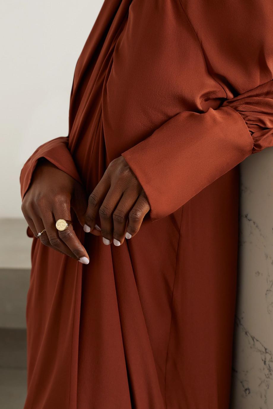 Yvonne Léon 9-karat gold diamond signet ring