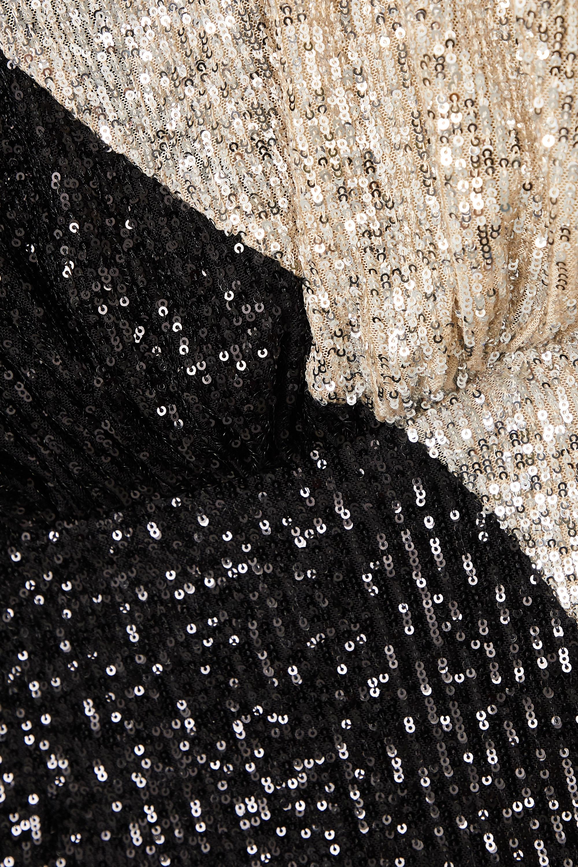 ROTATE Birger Christensen Billie two-tone sequined stretch-knit mini dress