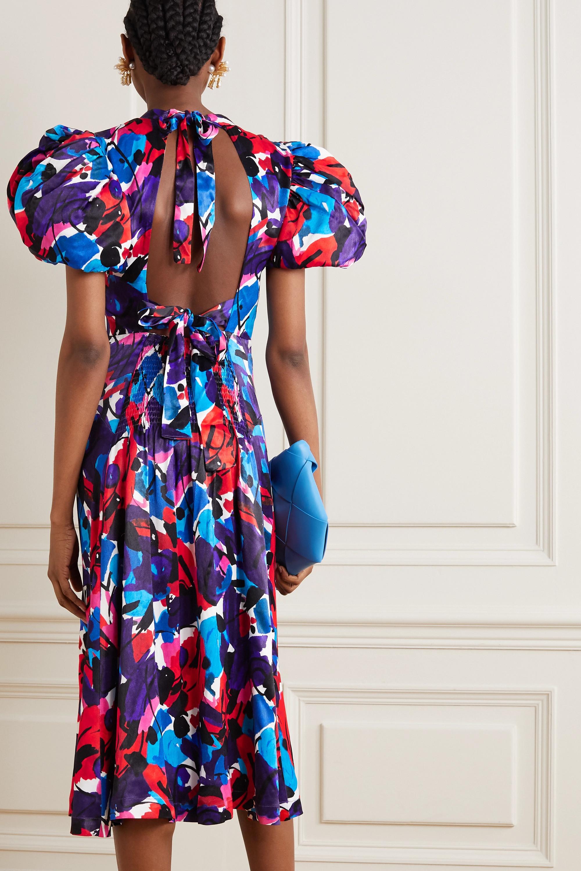 ROTATE Birger Christensen Dawn open-back printed satin midi dress