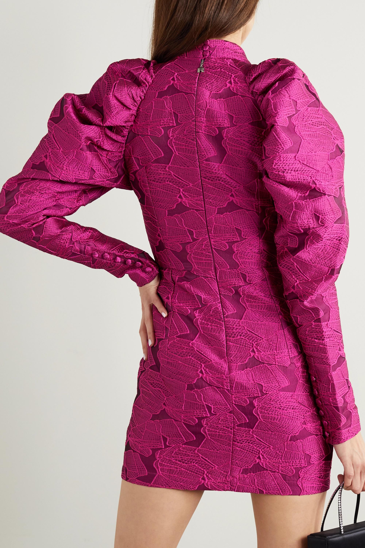 ROTATE Birger Christensen Kaya cutout jacquard mini dress