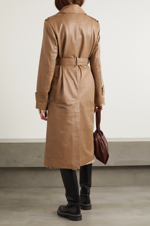 REMAIN Birger Christensen Trench-coat en cuir à ceinture Pirello