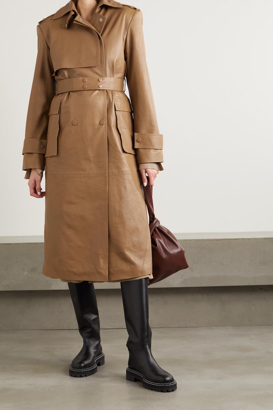 REMAIN Birger Christensen Pirello belted leather trench coat