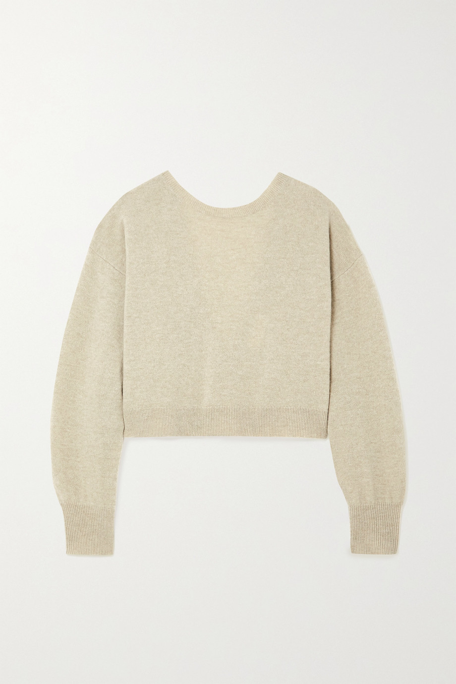 REMAIN Birger Christensen Valcyrie cropped open-back merino wool sweater