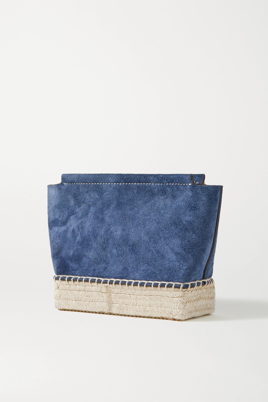 Altuzarra Espadrille mini Schultertasche aus Veloursleder mit Besätzen aus Jute