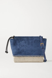 Altuzarra Espadrille mini jute-trimmed suede shoulder bag