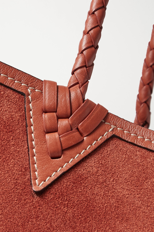 Altuzarra Espadrille large reversible leather-trimmed suede tote