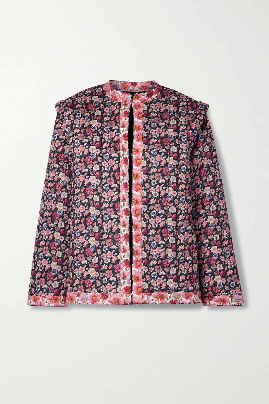 Sea Floral-print quilted cotton jacket