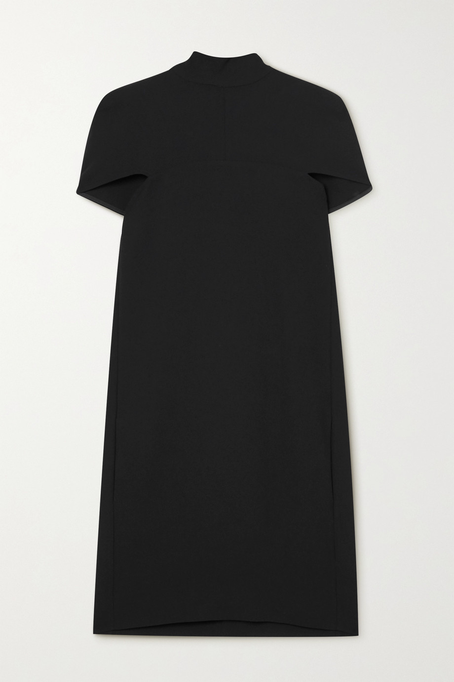 Victoria, Victoria Beckham Crepe cape-effect tie-detailed mini dress