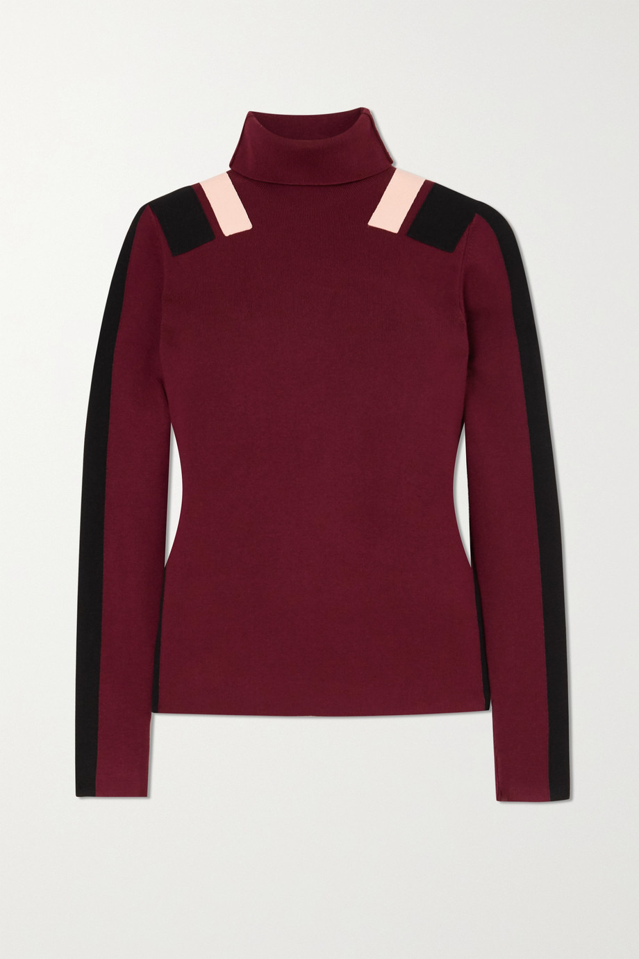Victoria, Victoria Beckham Color-block knitted turtleneck sweater