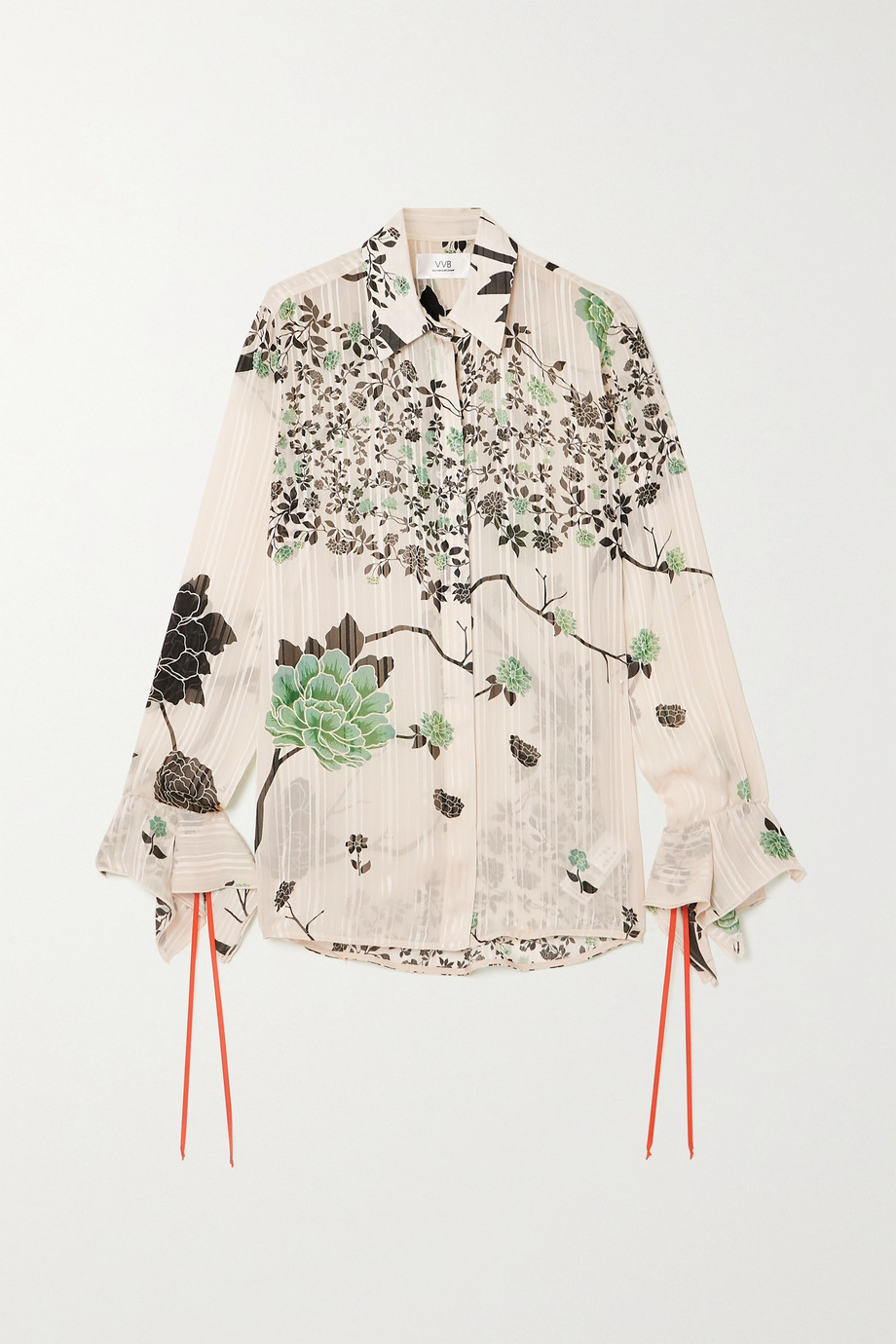 Victoria, Victoria Beckham Floral-print crepon shirt