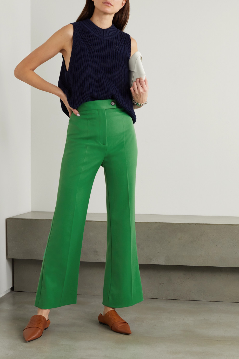Victoria, Victoria Beckham Twill flared pants