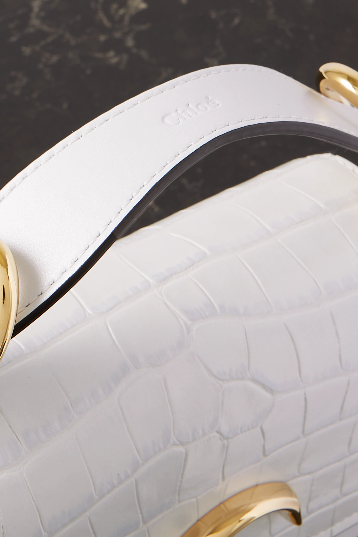 Chloé C mini croc-effect leather shoulder bag