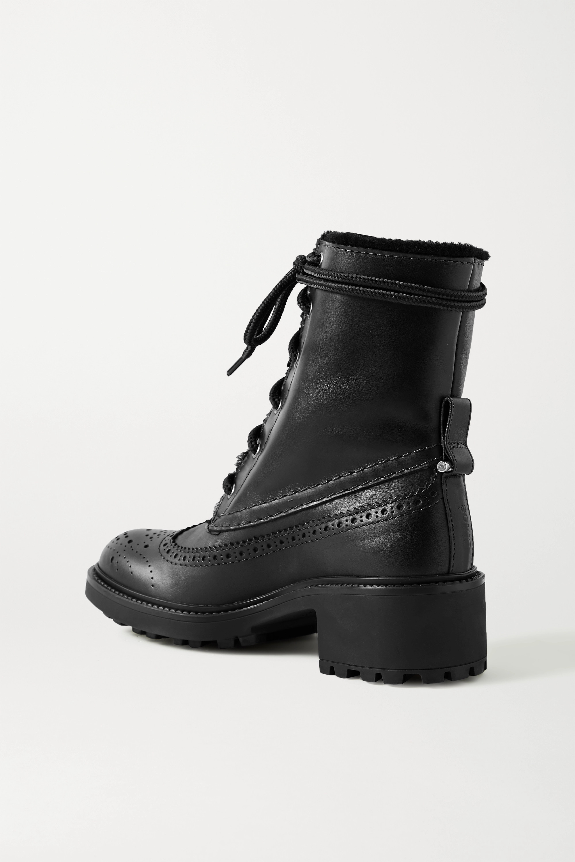 Chloé Franne shearling-lined leather ankle boots