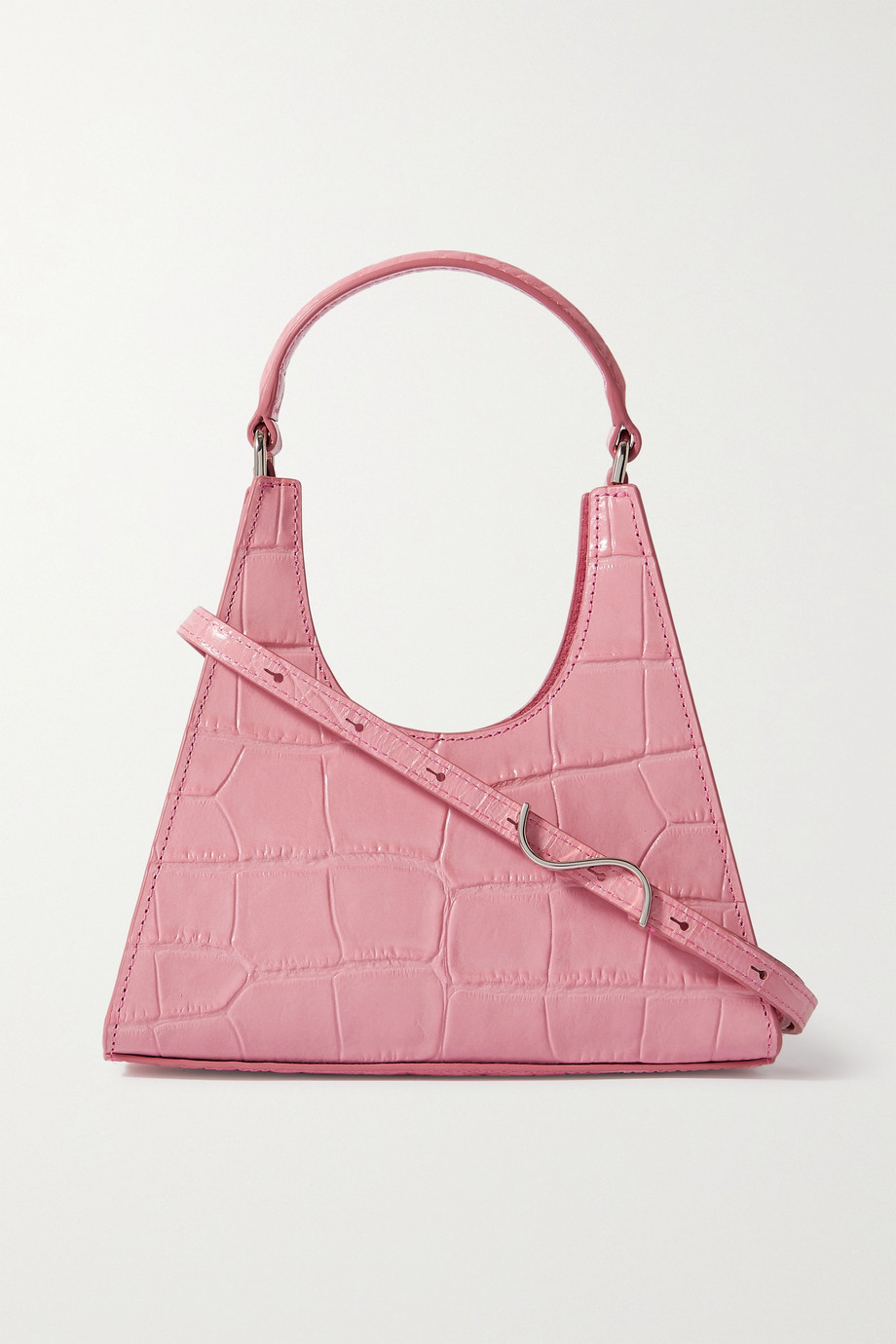 STAUD Rey mini croc-effect leather tote