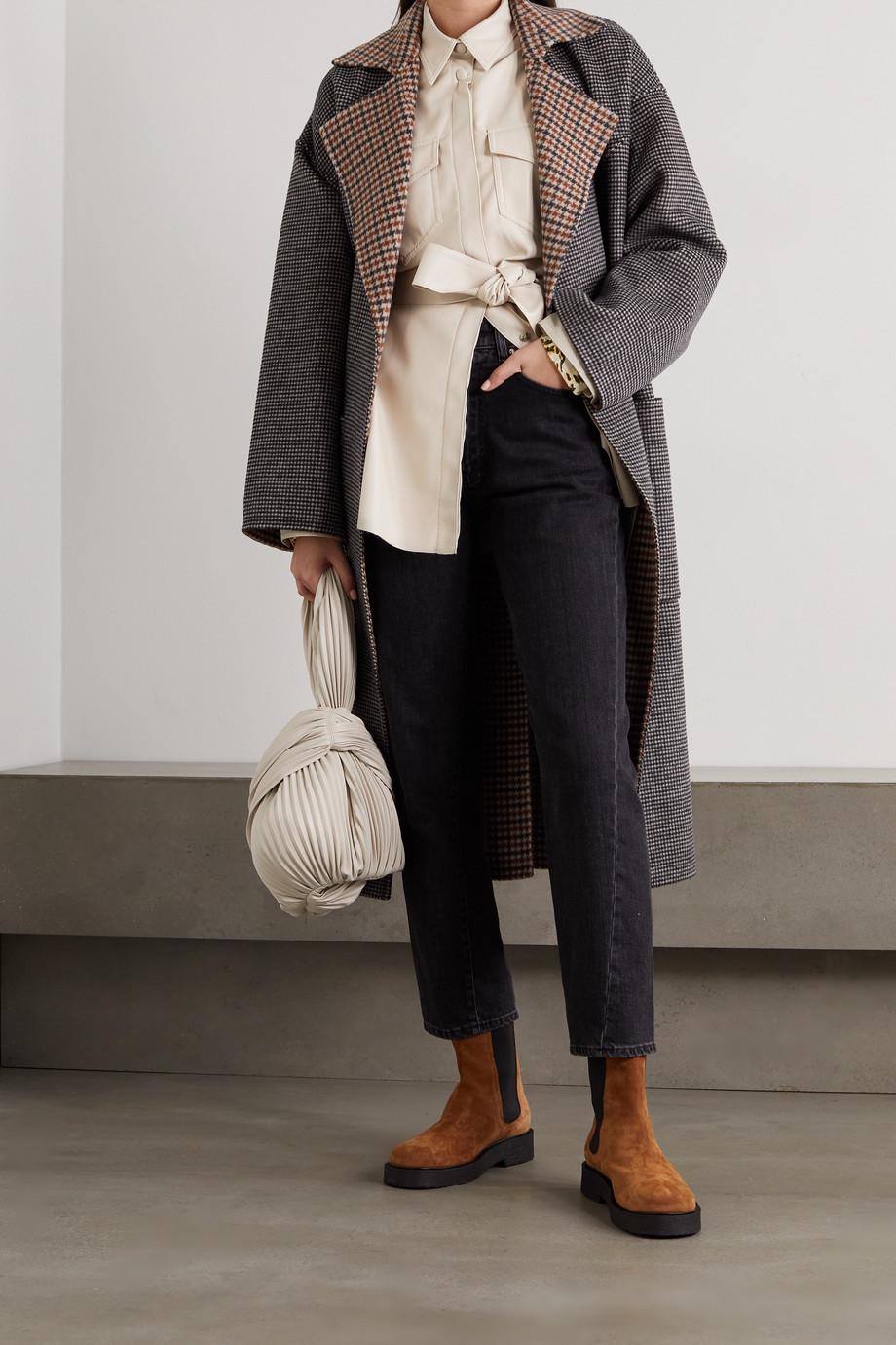 Nanushka Artha 配腰带纯素皮革衬衫