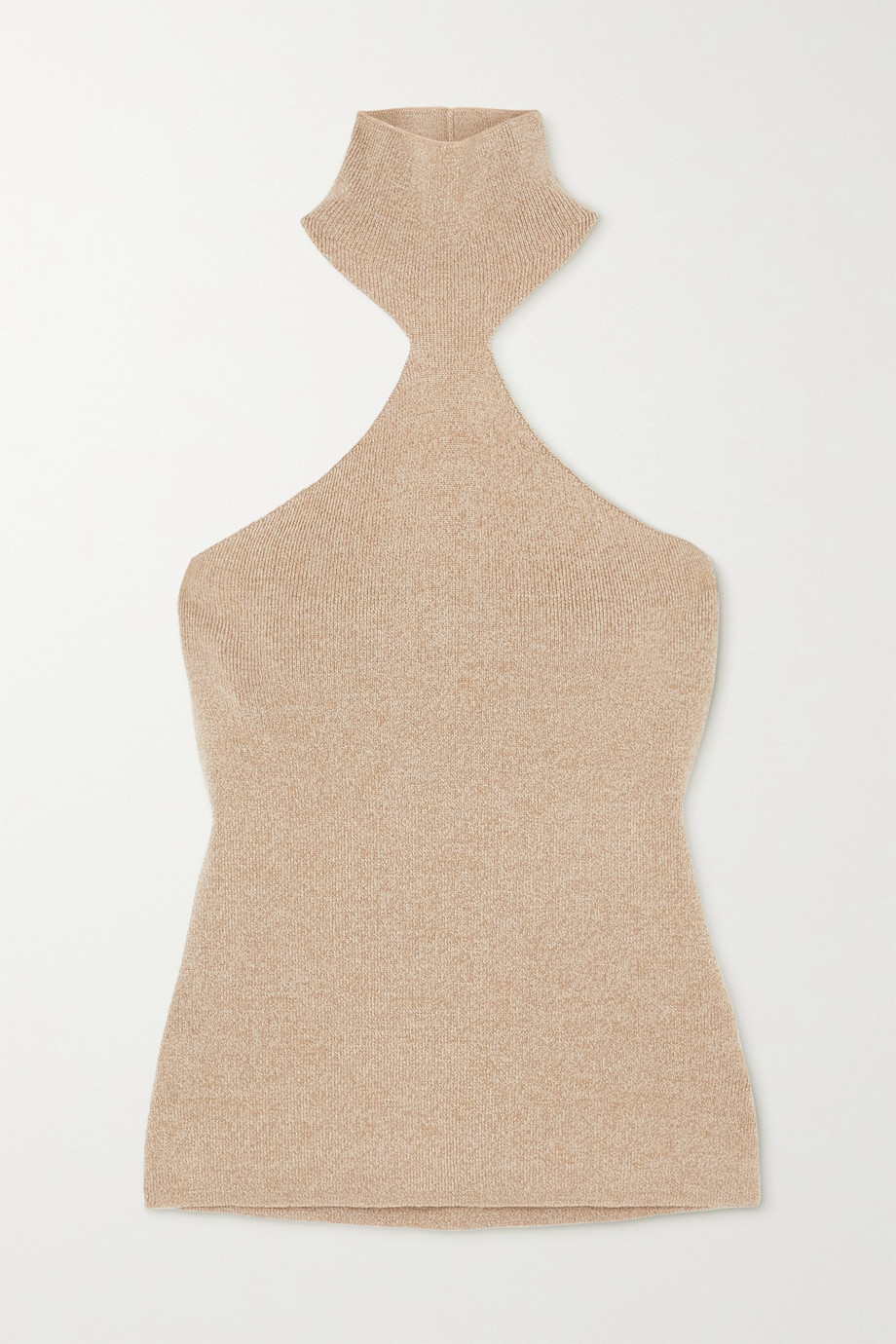 Nanushka + NET SUSTAIN Margo ribbed mélange wool-blend halterneck top